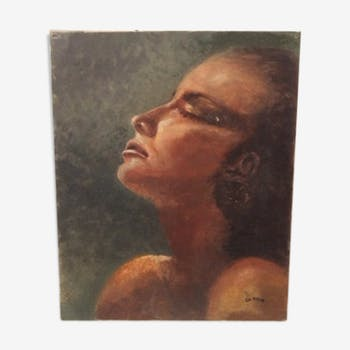 Portrait painting oil on canvas
