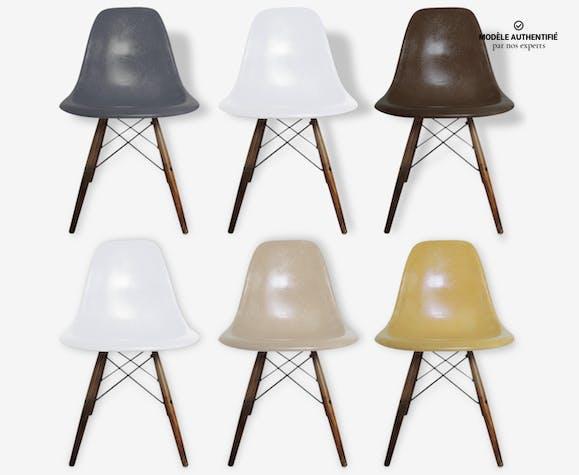 Lot de 6 chaises Eames DSW original vintage   Selency