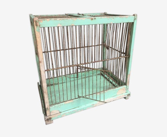 Ancienne cage à oiseaux wabi sabi