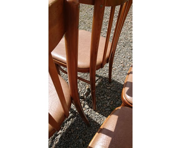 Lot 4 chaises Thonet assise skye
