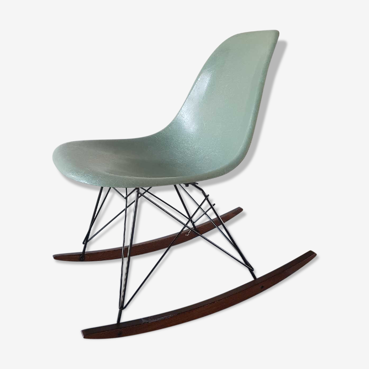Seafoam rocking chair by Eames for Herman Miller