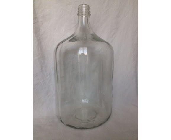 Transparent cylindrical demijohn 15 L