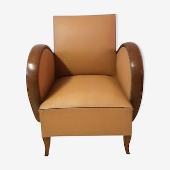 fauteuil am ricain 1930 enti rement restaur bois mat riau marron art d co dpoqbyx. Black Bedroom Furniture Sets. Home Design Ideas