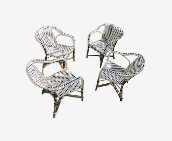 Set of 4 armchairs Drucker terrace Parisian Bistro
