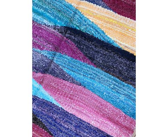 Moroccan Berber carpet Kilim Boucherouite 2.04x1.07m