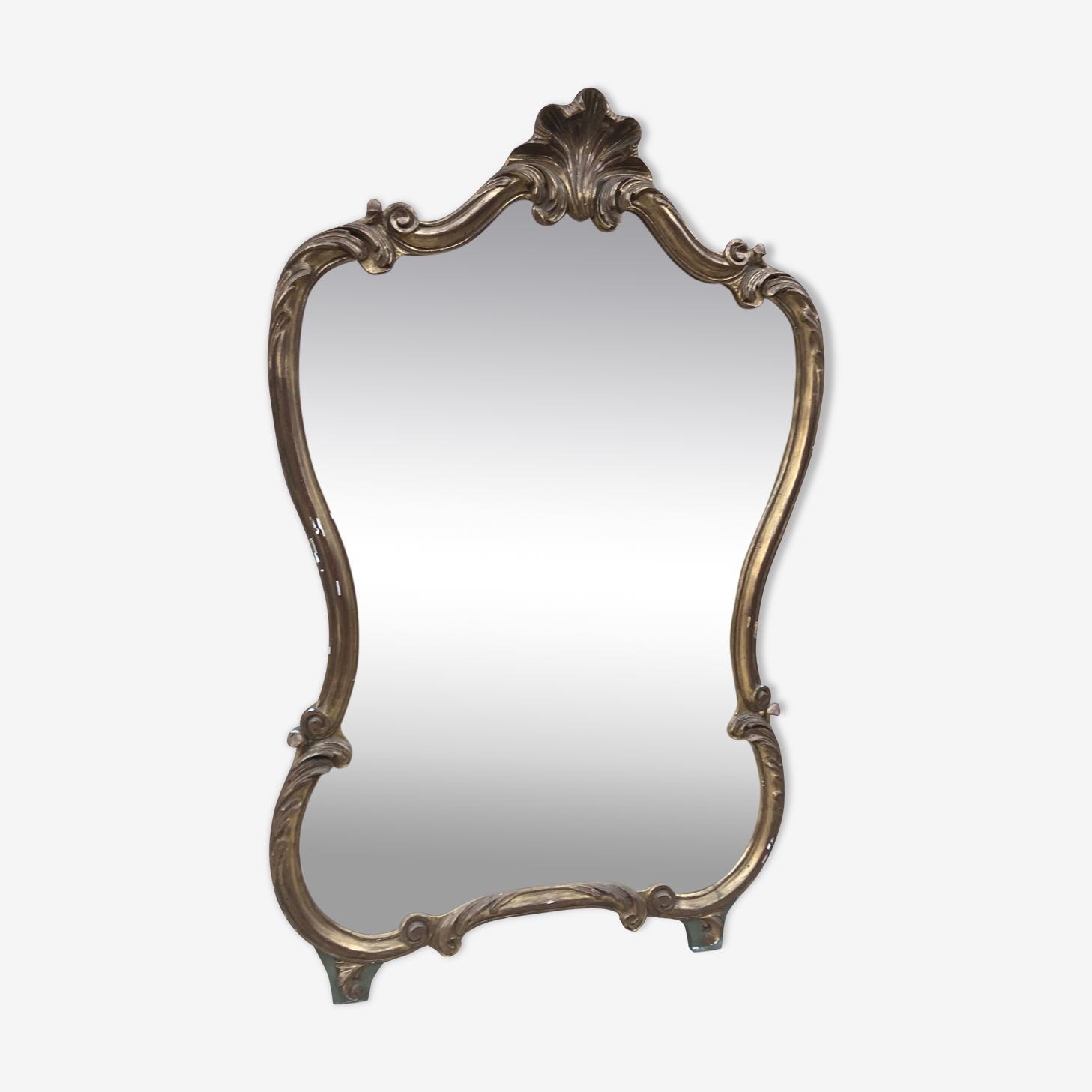 Miroir doré louis XV italienne ancien 78x125cm