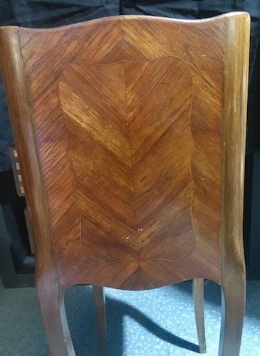 Table de chevet en marqueterie