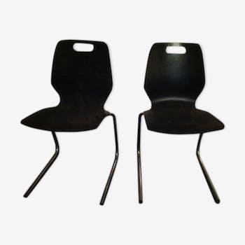Paire de chaises empilables