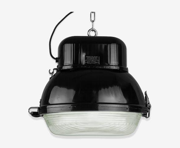 Industrial hanging lamp in black from Mesko, 1960