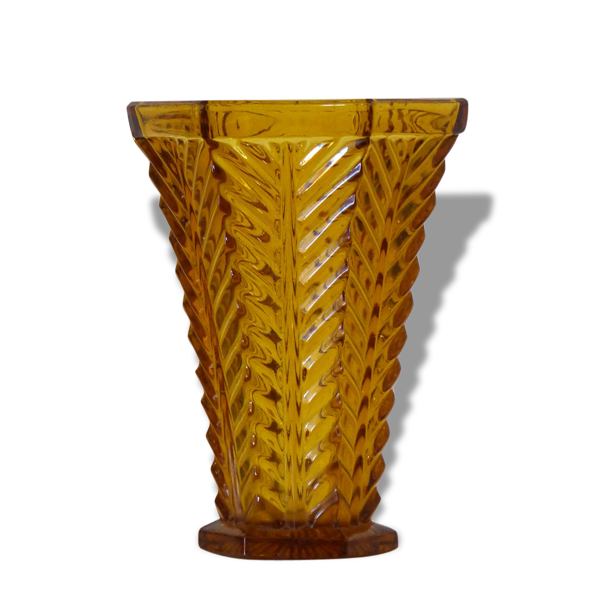 Deco dans grand vase en verre art deco daum nany superbe grand vase en verre sign lorrain - Grand vase transparent ...