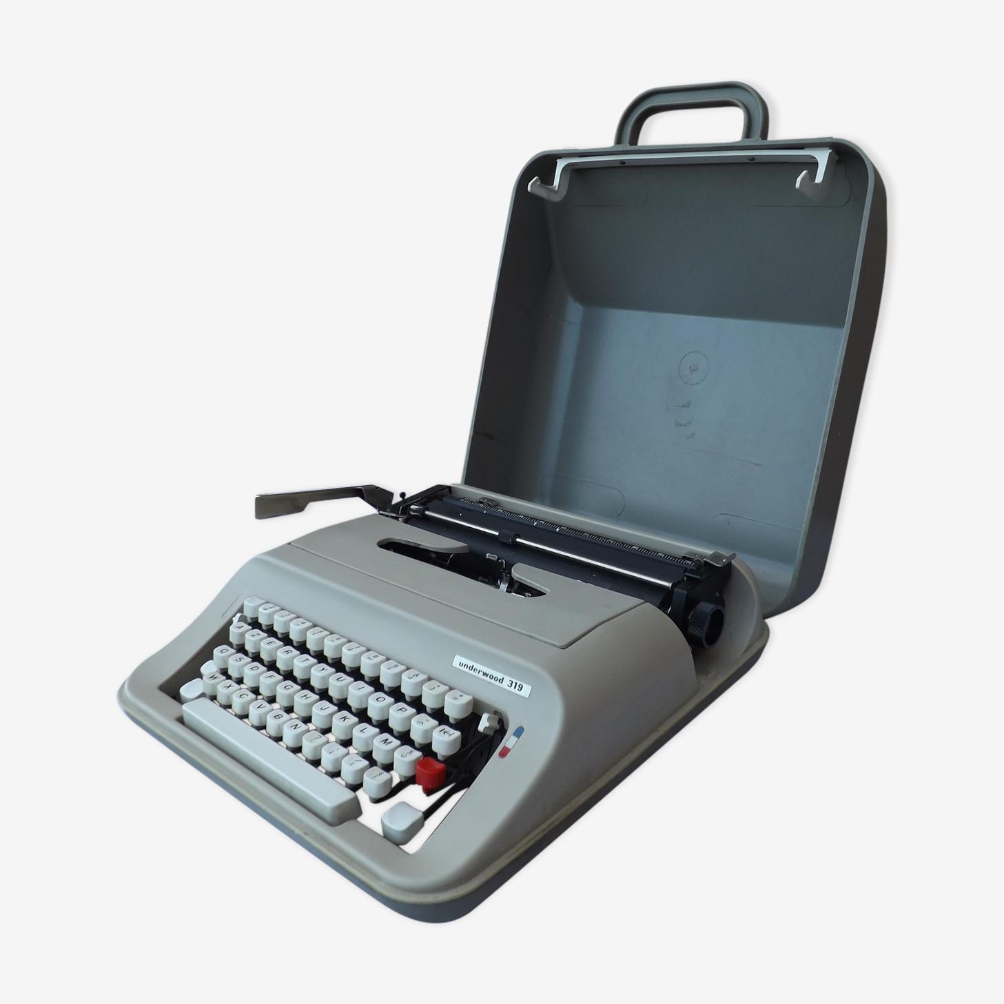 Vintage Machine à écrire portative Underwood 319