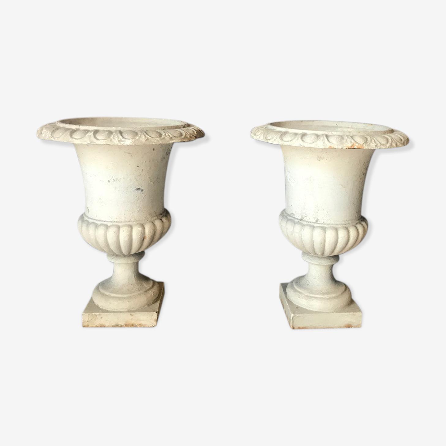 Pair des vases Medici métal