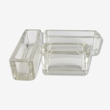 Suite de 3 vase 'centre-de-table' en cristal