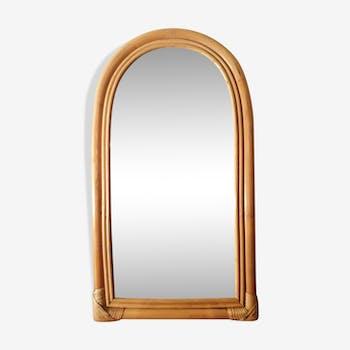 Vintage rattan mirror 37x67cm