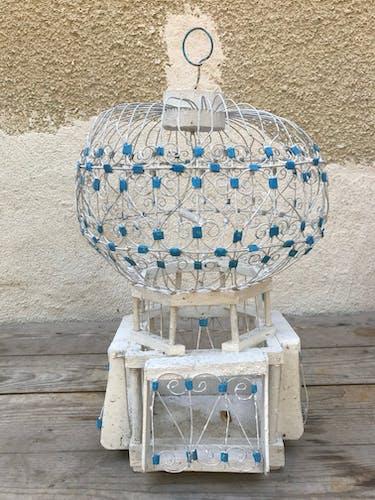 Ancienne cage oiseau métal