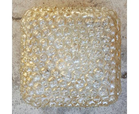 Amber bubble plafionnier, vintage, 70s