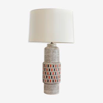 Lampe en céramique émaillée Guido Gambone