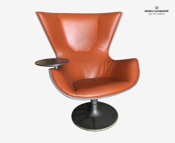 Fauteuil Eurostar Philippe Cassina Orange Edition Cuir Starck eWdxrCBo