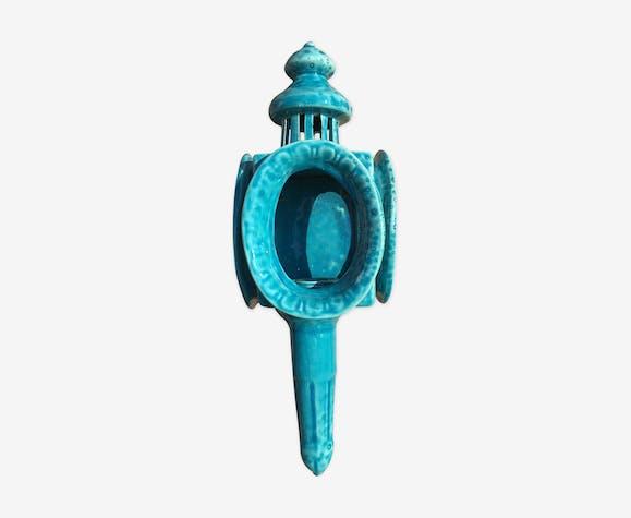 Applique murale céramique turquoise 1980