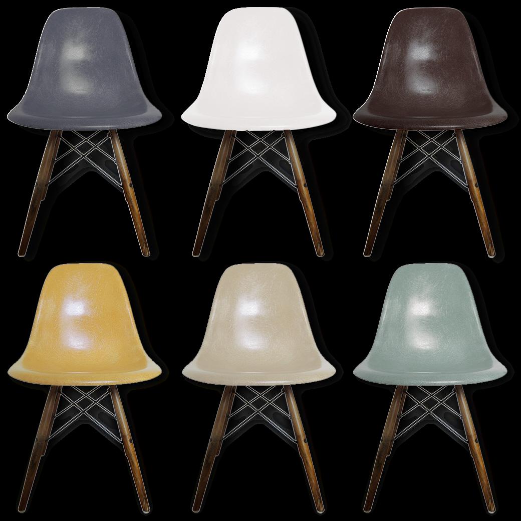 Chaise eames fibre de verre good dierbaar design eames for Chaise charles eames fibre de verre