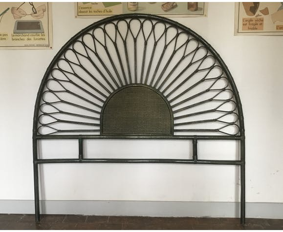 Tête de lit en rotin 140cm vintage