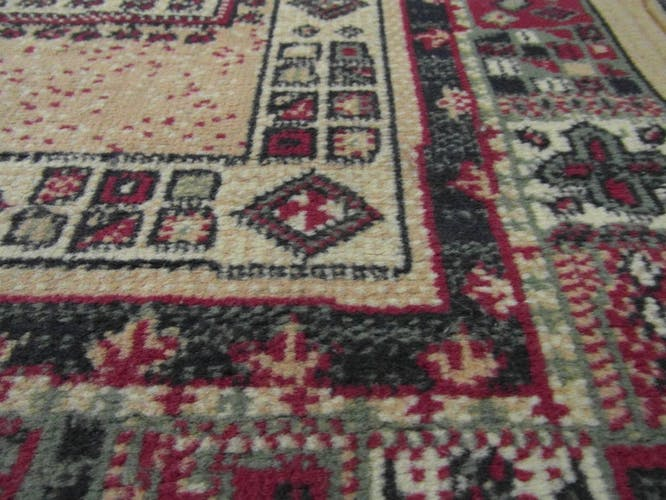 Carpets synthetic wool, beige and red, 114x61cm