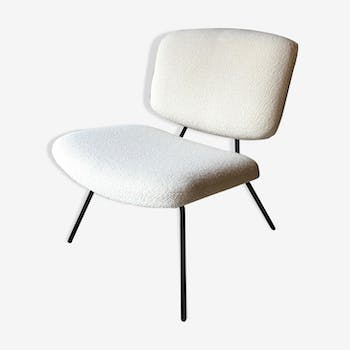 Pierre Paulin CM 190 chair for Thonet with Lelièvre fabric