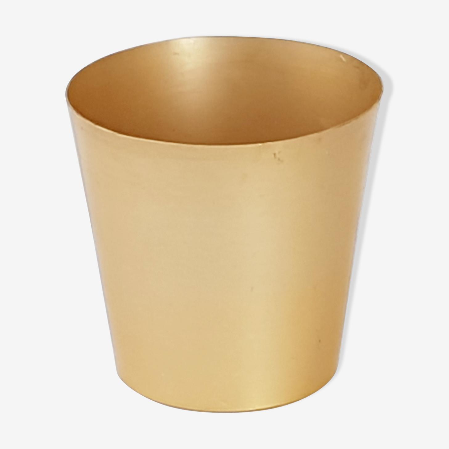 Vintage gold metal basket 1960
