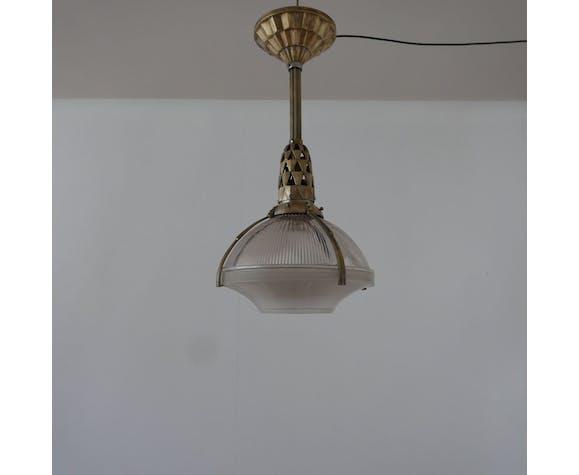 Suspension Art déco en bronze d'Émile-Jacques Ruhlmann