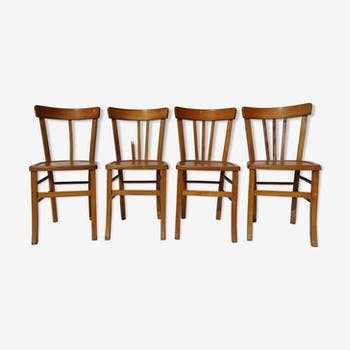 Lot of 4 bistro chairs
