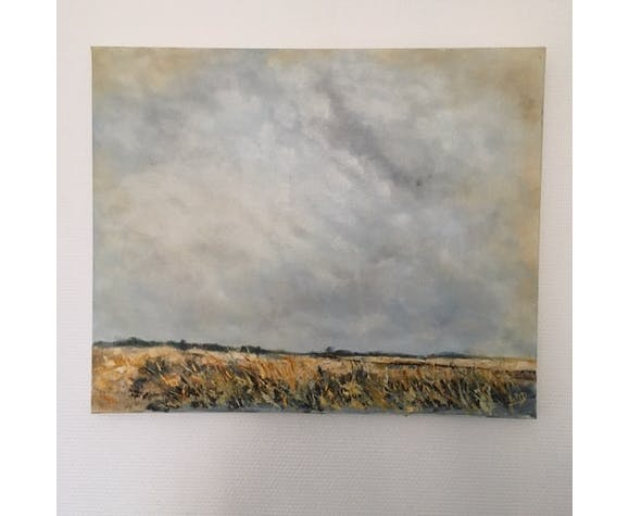 Table signed large sky and field