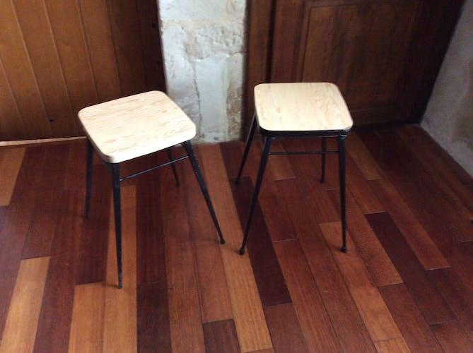 Pair of vintage formica stools