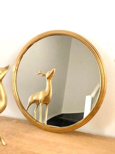 Plateau miroir rond 29cm