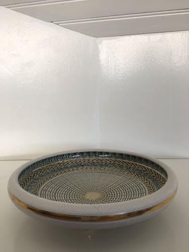Ceramic plate Brisdoux 1960