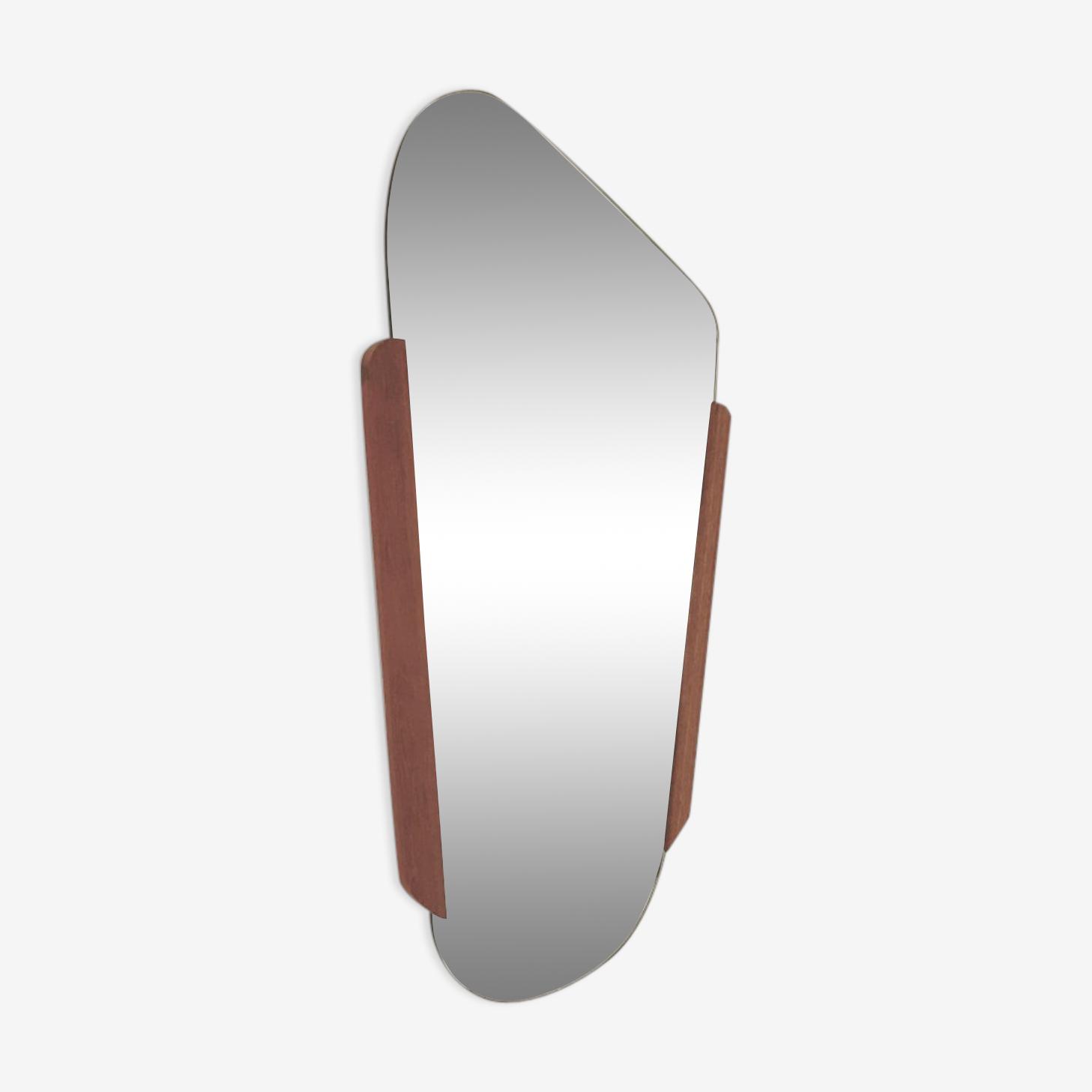 Miroir danois années 50 - 32 x 57 cm