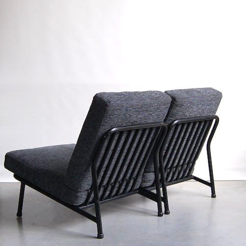 Paire de chauffeuses modernises 013 par Alf Svensson pour Dux 1950s
