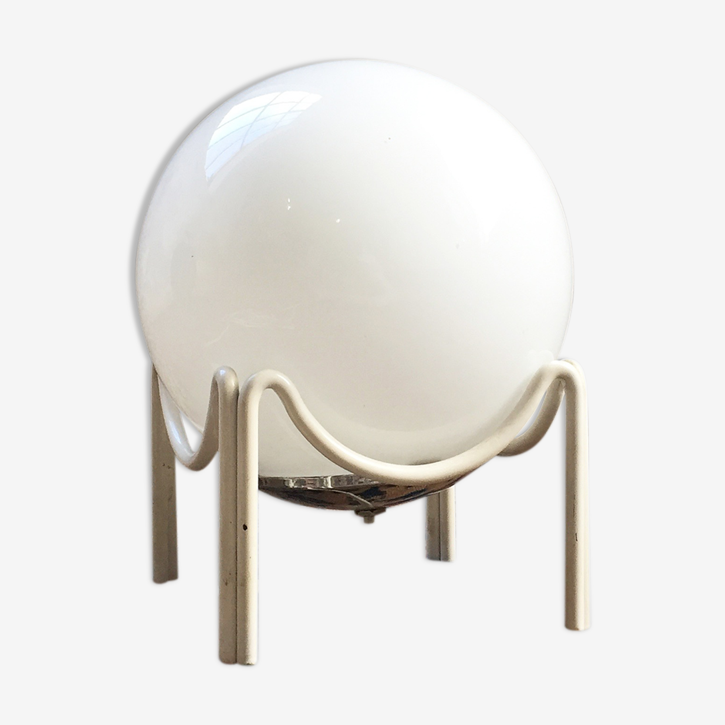 Lampe boule  vintage support tripode