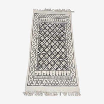 Tapis kilim blanc 155x80cm