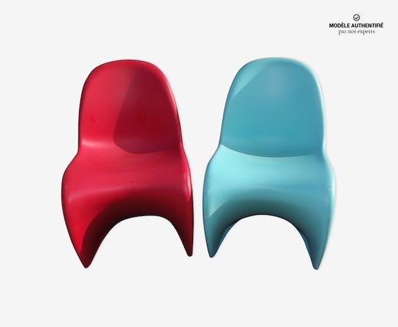 Paire de chaises par Verner Panton pour Vitra Junior