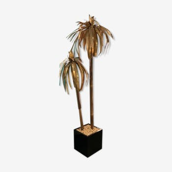 Floor lamp Palm tree in brass