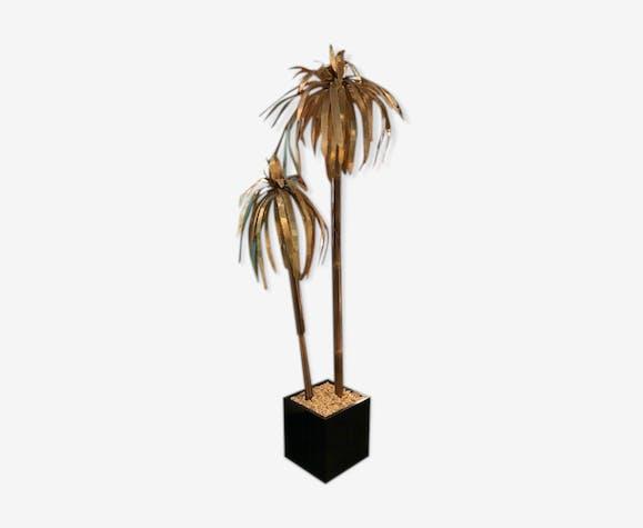 Lampadaire palmier en laiton