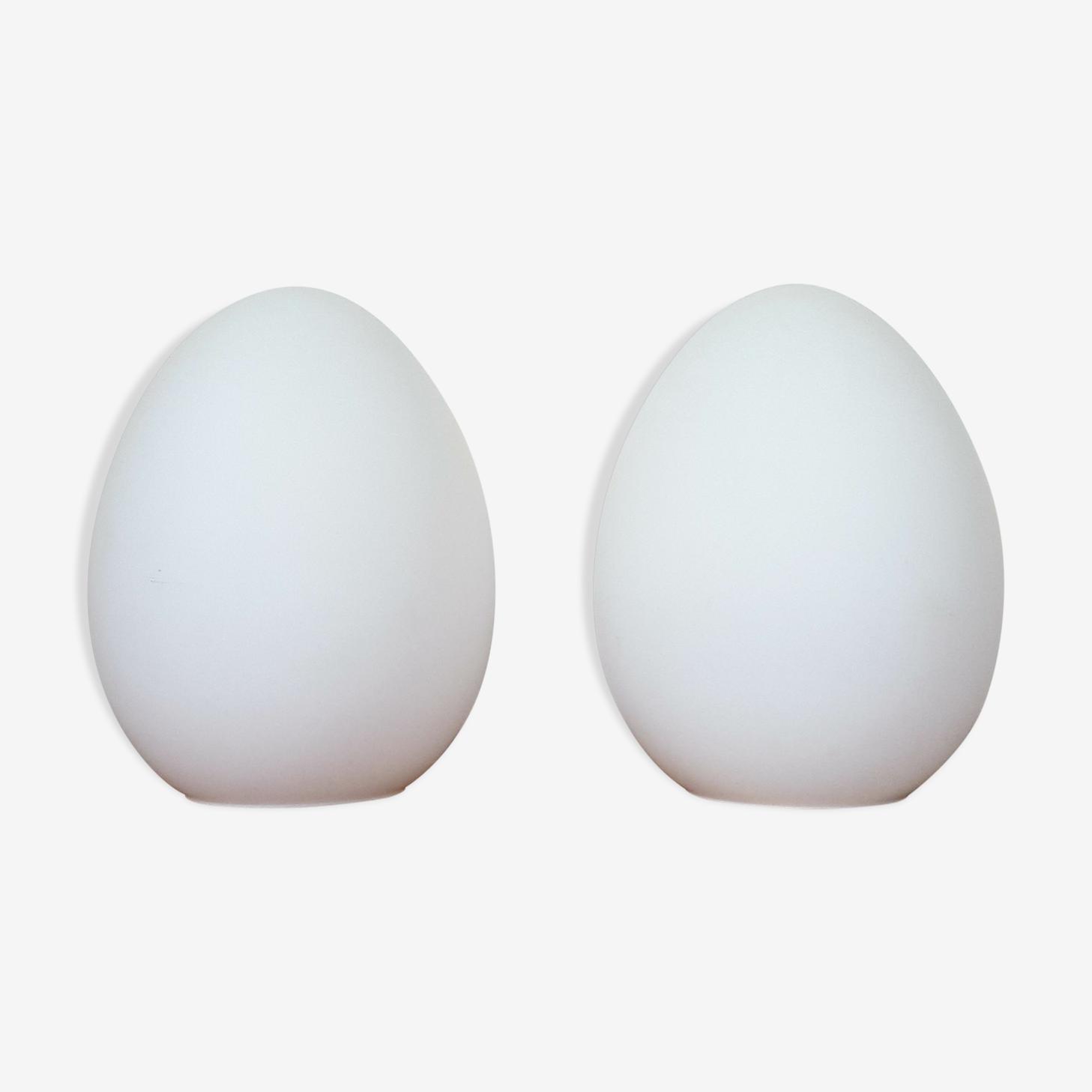 Lampes italienne opaline blanche
