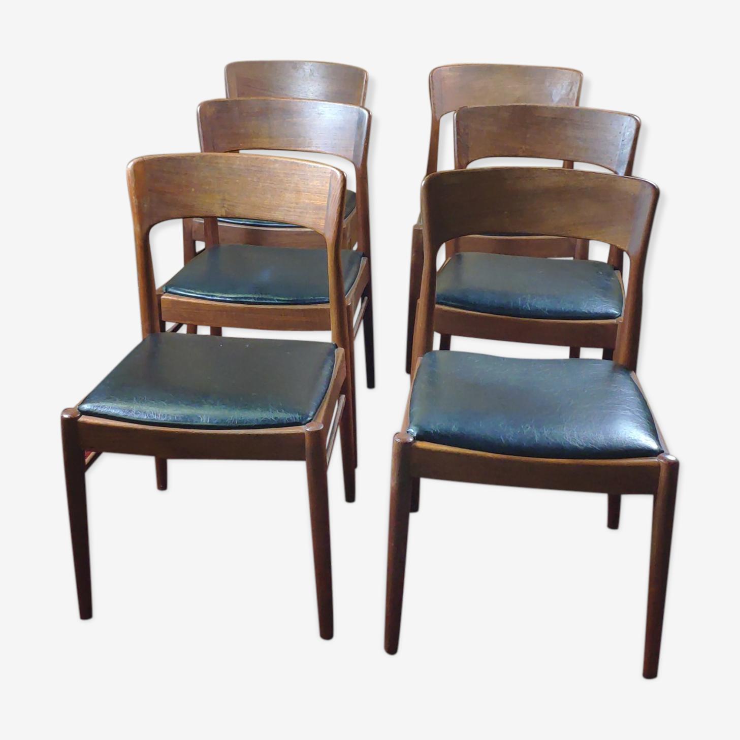 Set de 6 chaises scandinaves 1960 K.S made in Danemark