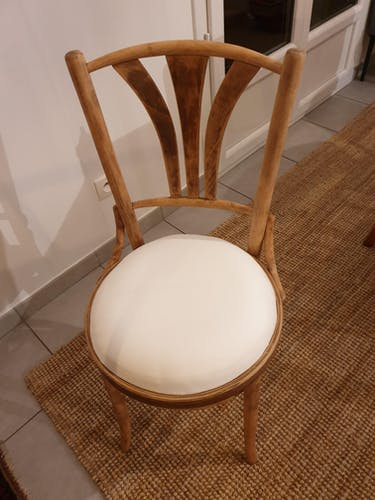 Chaise bistrot bois brut