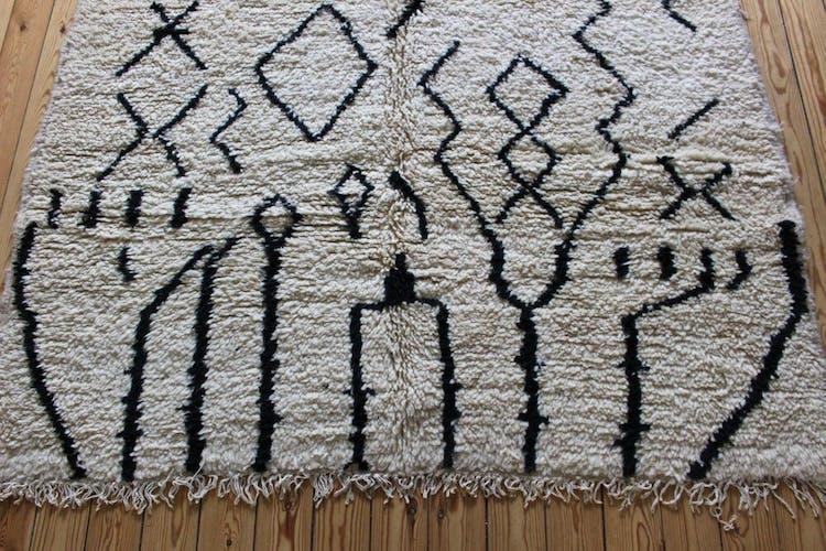 Tapis azilal tissé main au Maroc 142x211cm