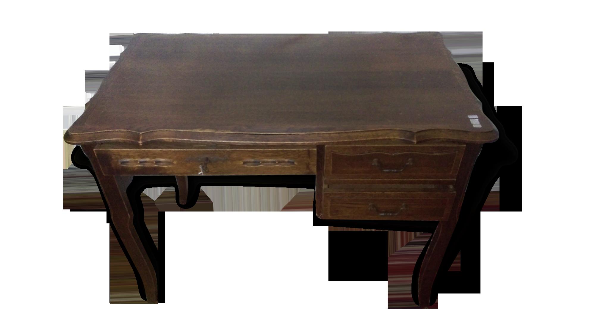 Petit bureau bois bois matériau bois couleur classique