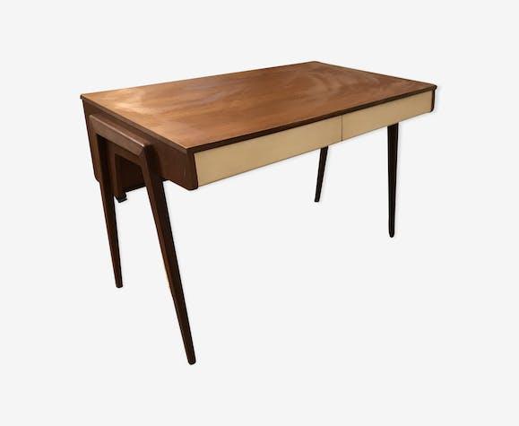 bureau pieds compas ann es 50 teck bois couleur vintage d4kjsl3. Black Bedroom Furniture Sets. Home Design Ideas
