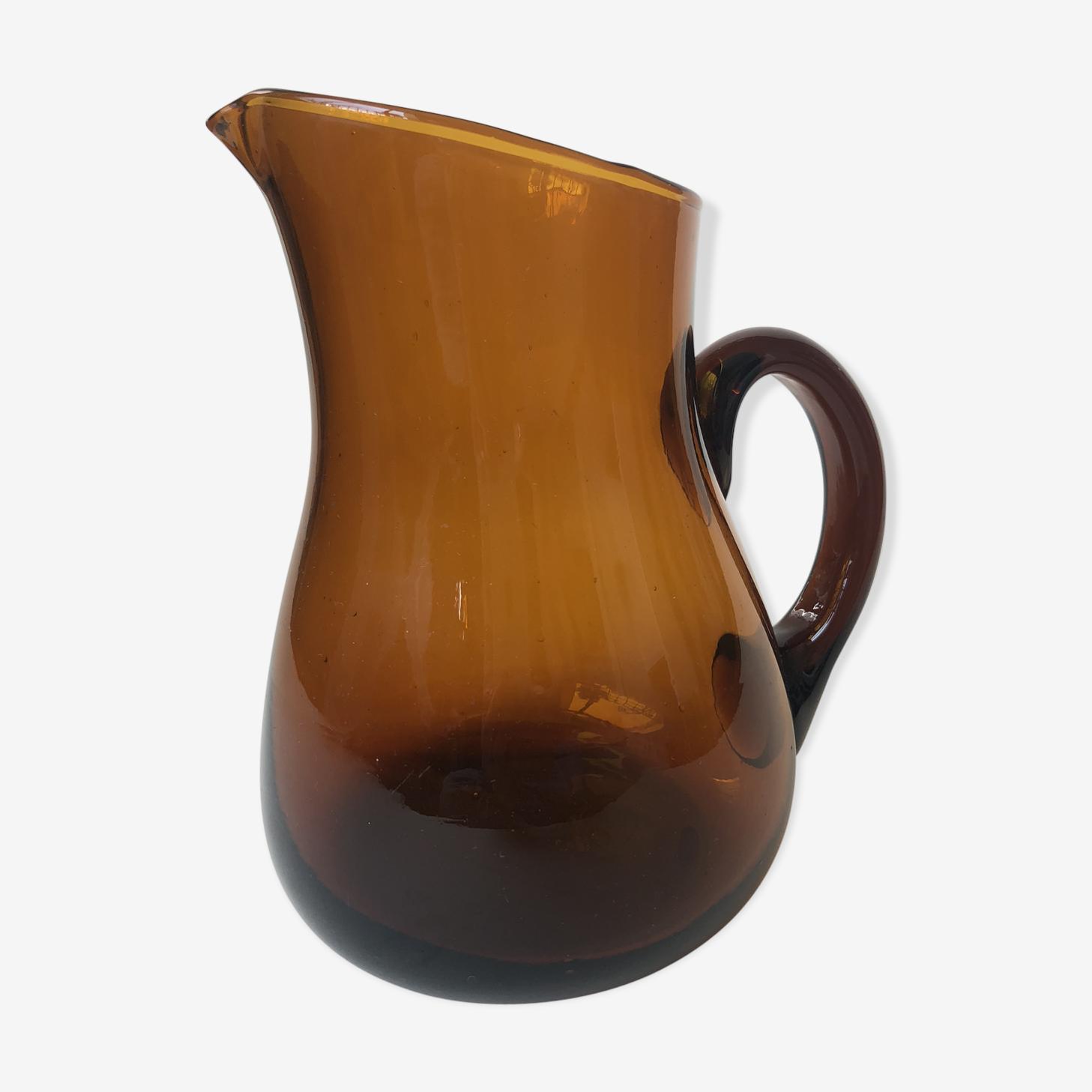 Carafe ambre orangé