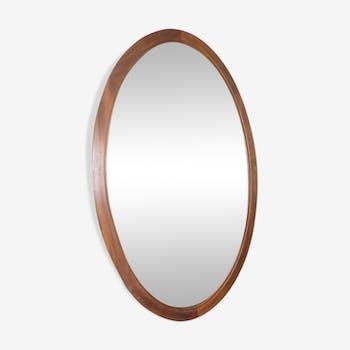 Beveled mirror oval 102x44cm