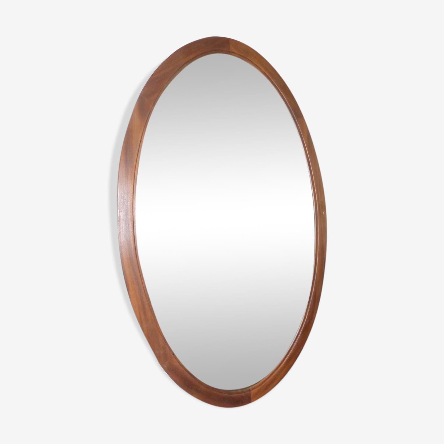 Miroir biseauté ovale 102x44cm
